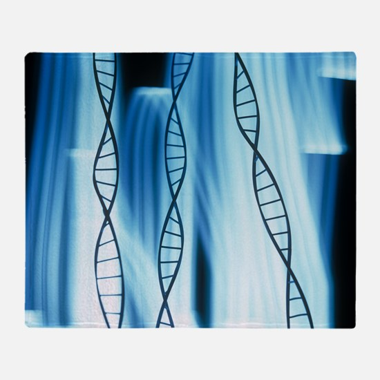 DNA helices - Throw Blanket