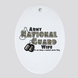 National Guard Wife - Digital Oval Ornament