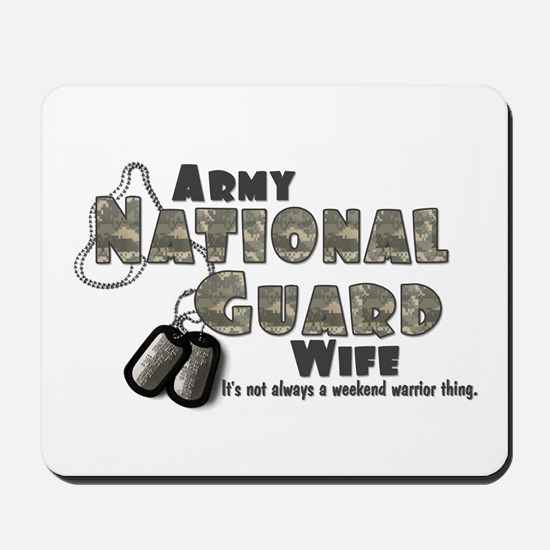 National Guard Wife - Digital Mousepad