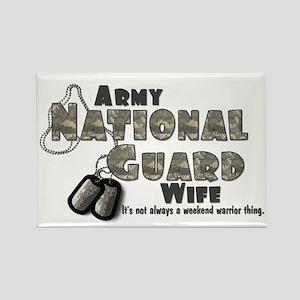 National Guard Wife - Digital Rectangle Magnet
