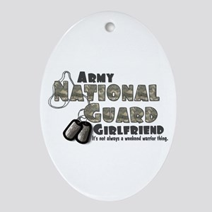 National Guard Girlfriend - Oval Ornament