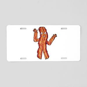 Happy Bacon Aluminum License Plate