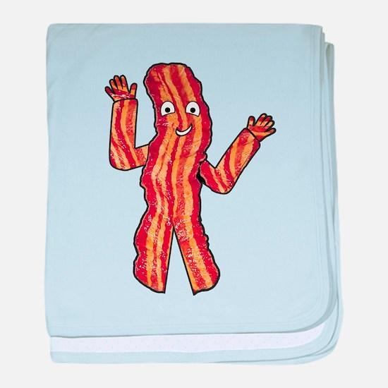 Happy Bacon baby blanket