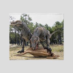 Tyrannosaurus rex dinosaurs - Throw Blanket