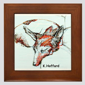 Sleeping dog Framed Tile