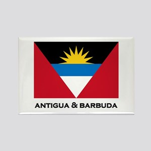 Antigua & Barbuda Flag Merchandise Rectangle Magne