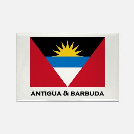 Antigua & Barbuda Flag Merchandise Rectangle Magne