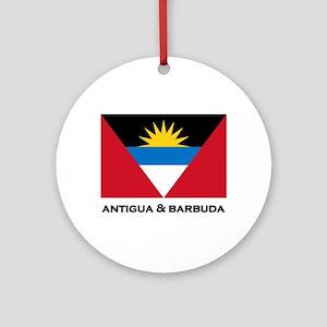 Antigua & Barbuda Flag Merchandise Ornament (Round