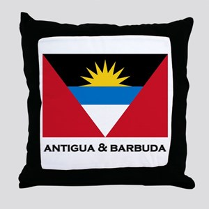 Antigua & Barbuda Flag Merchandise Throw Pillow