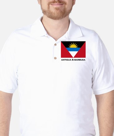 Antigua & Barbuda Flag Merchandise Golf Shirt