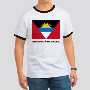 Antigua & Barbuda Flag Merchandise Ringer T