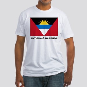 Antigua & Barbuda Flag Merchandise Fitted T-Shirt