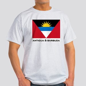 Antigua & Barbuda Flag Merchandise Ash Grey T-Shir