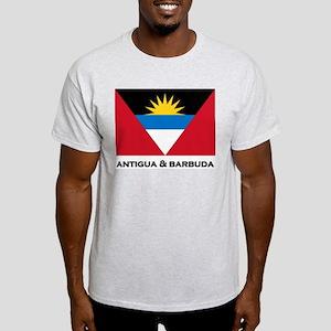 Antigua & Barbuda Flag Merchandise Ash Grey T-Shir