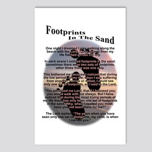 Footprints In The Sand Postcards (Package of 8)