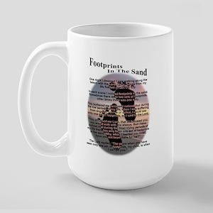 Footprints In The Sand Large Mug