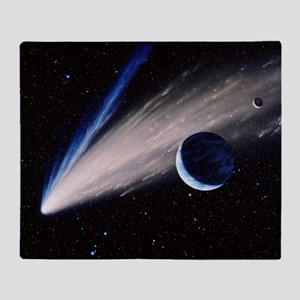 Artwork of a comet passing the Earth - Stadium Bl