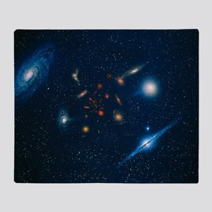 Artwork of various galaxies showing red shift - S