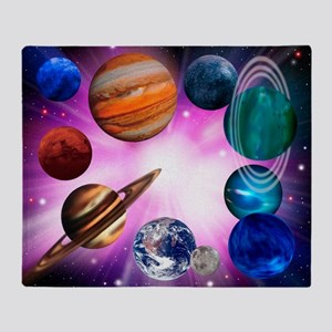 Computer artwork of planets on a large explosion
