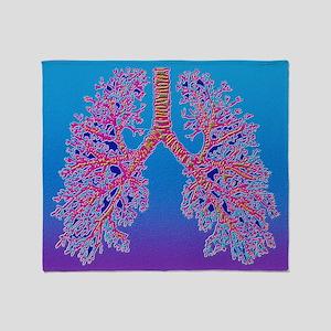 Computer art of human lung trachea - Stadium Blan