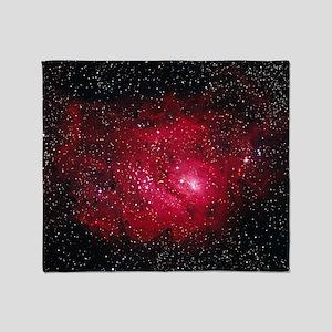 Lagoon nebula M8 - Throw Blanket