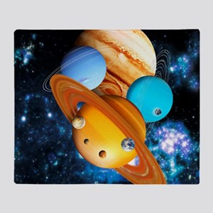 Solar system planets - Throw Blanket