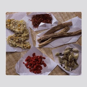 Traditional Chinese medicines - Throw Blanket
