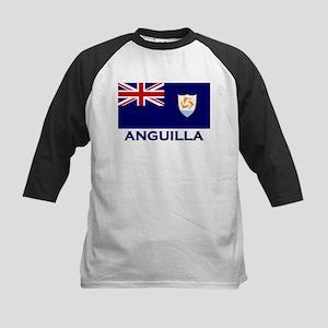 Anguilla Flag Gear Kids Baseball Jersey