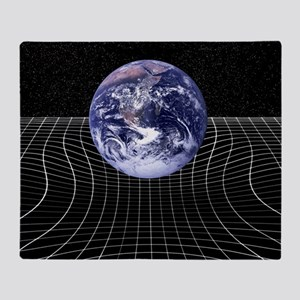 Warped space-time due to gravity - Throw Blanket