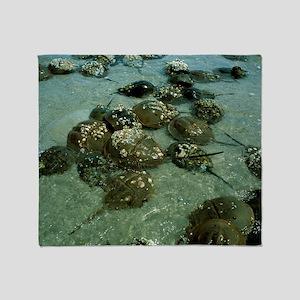 Horseshoe crab research - Throw Blanket