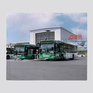 Biodiesel buses, Austria - Throw Blanket