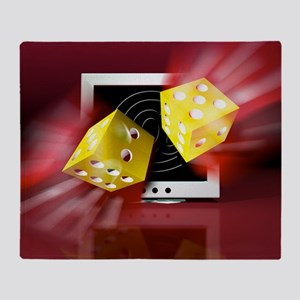 Online gambling - Throw Blanket