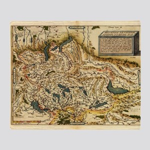 Ortelius's map of Switzerland, 1570 - Stadium Bla