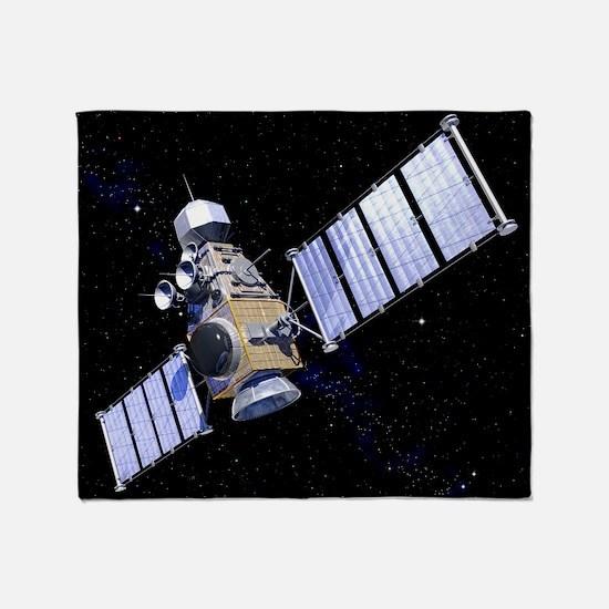 Military satellite - Throw Blanket