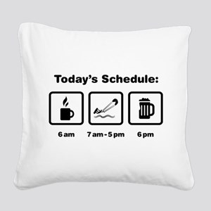 Kite Surfing Square Canvas Pillow