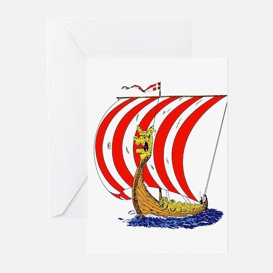 Viking boat Greeting Cards (Pk of 10)