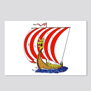 Viking boat Postcards (Package of 8)