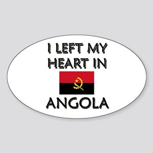I Left My Heart In Angola Oval Sticker