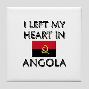 I Left My Heart In Angola Tile Coaster