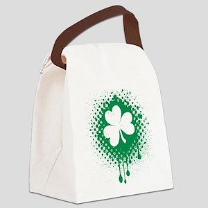 Irish Shamrock grunge Canvas Lunch Bag
