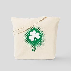 Irish Shamrock grunge Tote Bag