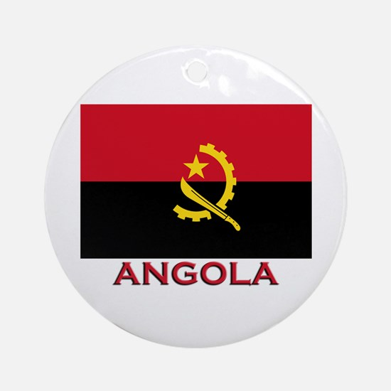 Angola Flag Merchandise Ornament (Round)