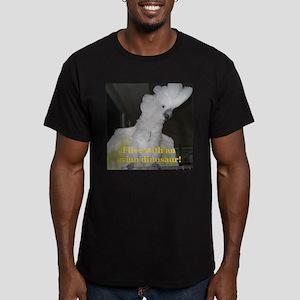 Umbrella Cockatoo Men's Fitted T-Shirt (dark)