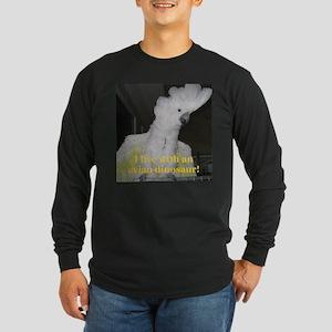 Umbrella Cockatoo Long Sleeve Dark T-Shirt