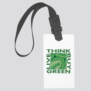 Think Green Large Luggage Tag