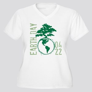 Earth Day 04/22 Women's Plus Size V-Neck T-Shirt