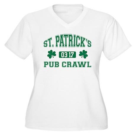 Pub Crawl 03/17 Women's Plus Size V-Neck T-Shirt