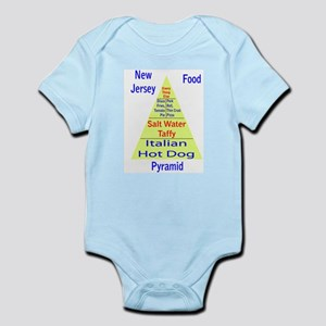 New Jersey Food Pyramid Infant Bodysuit
