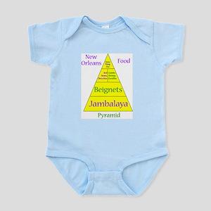 New Orleans Food Pyramid Infant Bodysuit