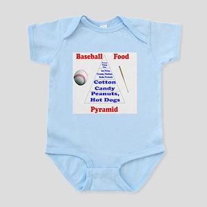 Baseball Food Pyramid Infant Bodysuit